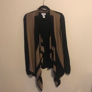 Carmen Marc Valvo brown and black sweater